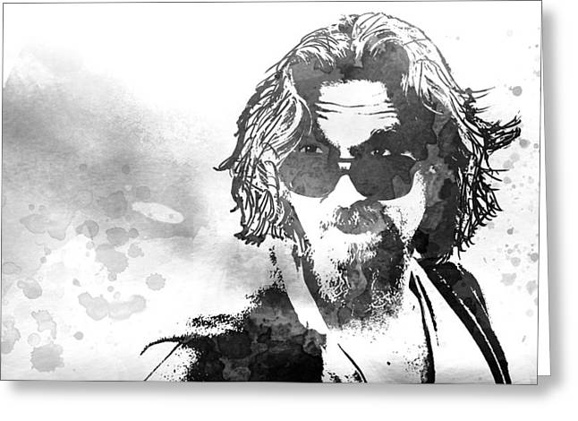 Dude Art Greeting Cards - Dude B W Greeting Card by Daniel Hagerman