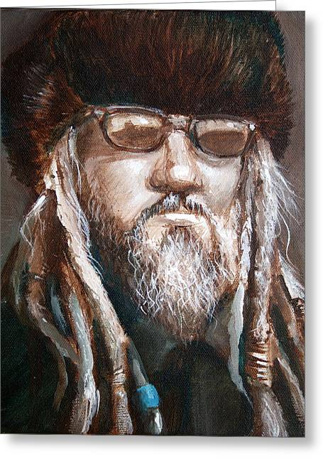 Dreads Greeting Cards - Dude Greeting Card by Vanessa Bates