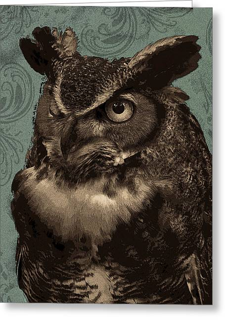 Wildlife Tapestries Textiles Greeting Cards - Dudley Greeting Card by Rose  Fleming