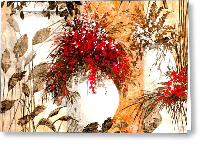 Bright Decor Greeting Cards - Due Bianca Greeting Card by Guido Borelli