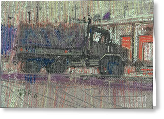 Truck Drawings Greeting Cards - Duece and a Half Greeting Card by Donald Maier