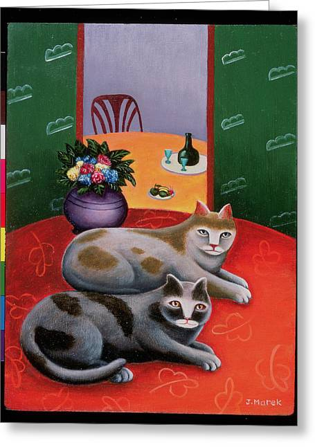 Glass Vase Greeting Cards - Duet Greeting Card by Jerzy Marek