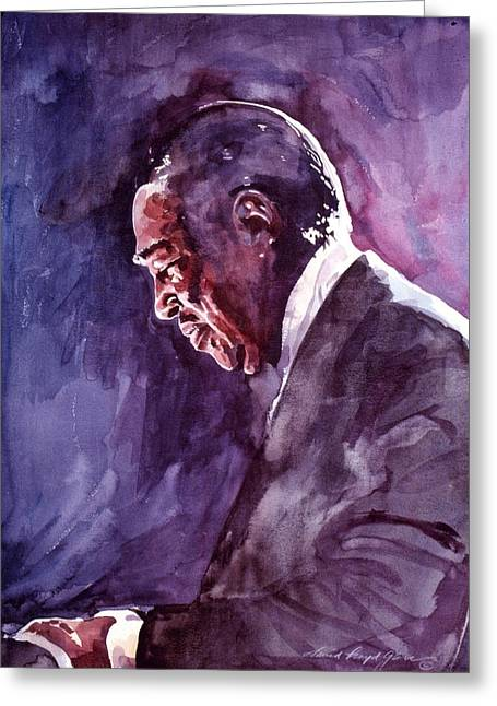 Historical People Greeting Cards - Duke Ellington Mood Indigo Sounds Greeting Card by David Lloyd Glover