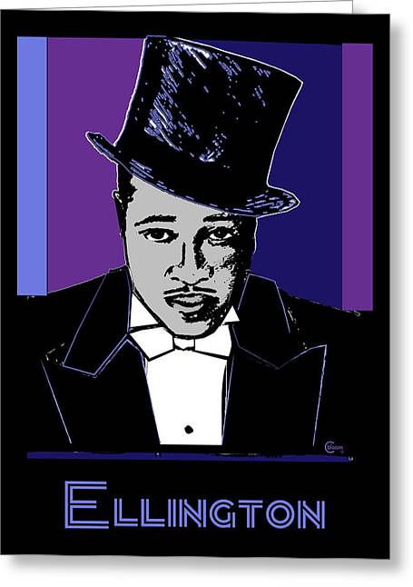 Ellington Greeting Cards - Duke Ellington Portrait Greeting Card by Cecely Bloom