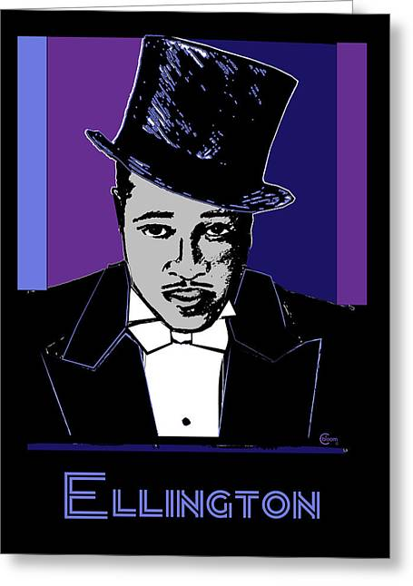Cotton Club Greeting Cards - Duke Ellington Portrait Greeting Card by Cecely Bloom