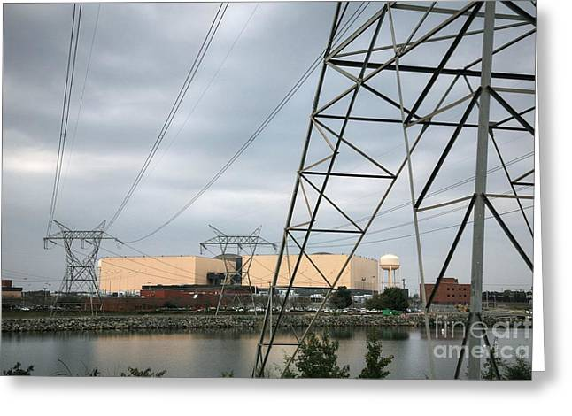 Mecklenburg County Greeting Cards - Duke Energy Mcguire Nuclear Energy Station Greeting Card by Robert Loe