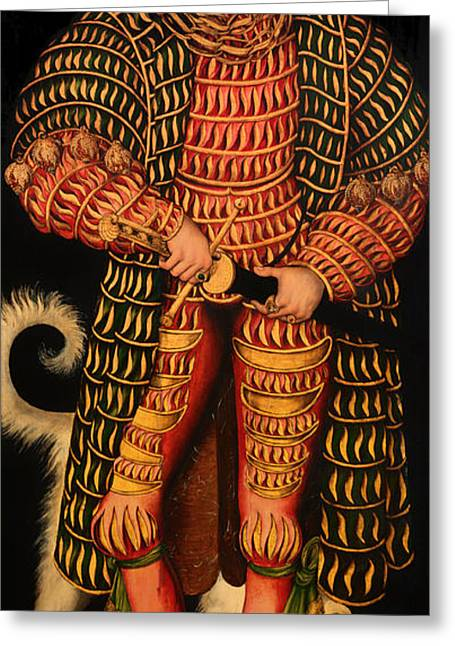 Pious Paintings Greeting Cards - Duke Henry the Pious Greeting Card by Lucas Cranach the Elder