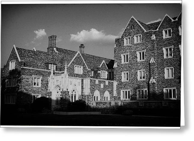 Duke Greeting Cards - Duke University Building Greeting Card by Nomad Art And  Design