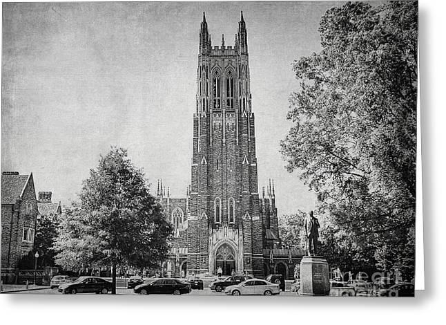 Duke Greeting Cards - Duke University Chapel Greeting Card by Emily Kay