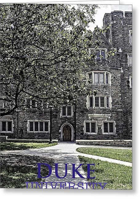 Duke Greeting Cards - Duke University Greeting Card by Madeline Ellis