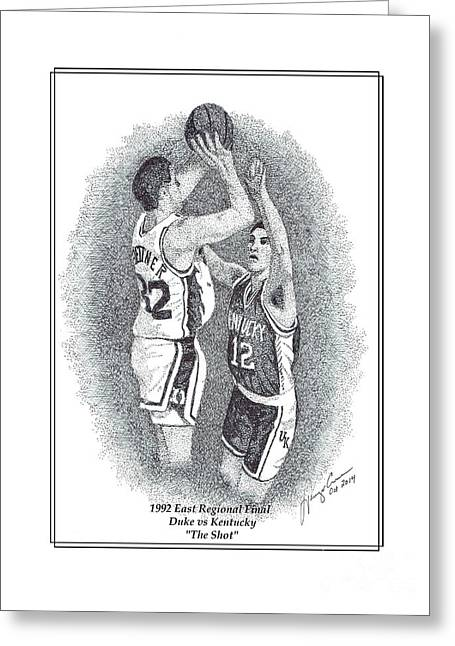 Laettner Greeting Cards - Duke vs Kentucky Greatest College Game ever played Greeting Card by Tanya Crum