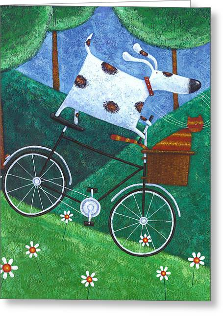Dukes Bike Ride Greeting Card by Peter Adderley