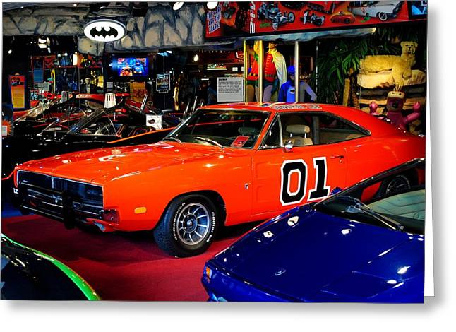Mopar Photographs Greeting Cards - Dukes of Hazzard Greeting Card by Frozen in Time Fine Art Photography