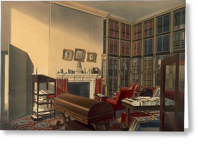 Desk Drawings Greeting Cards - Dukes Own Room, Apsley House, By T. Boys Greeting Card by Thomas Shotter Boys