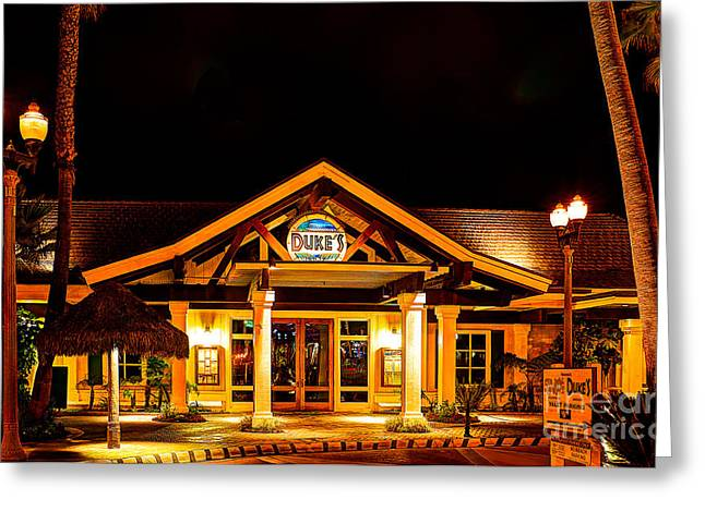 Pch Greeting Cards - Dukes Restaurant Huntington Beach Greeting Card by Jim Carrell