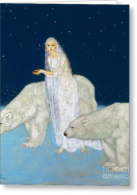 White Maiden Greeting Cards - Dulac: The Ice Maiden, 1915 Greeting Card by Granger