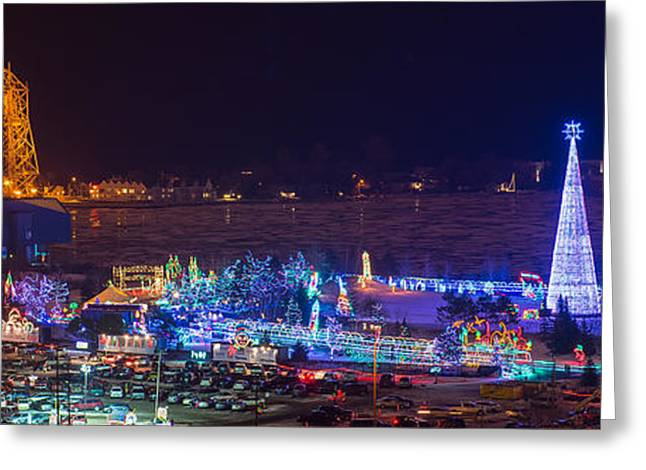 North Shore Greeting Cards - Duluth Christmas Lights Greeting Card by Paul Freidlund
