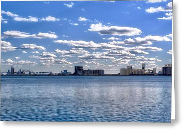 Maine Shore Mixed Media Greeting Cards - Duluth Harbor  Greeting Card by Todd and candice Dailey