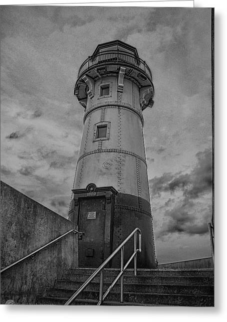 Recently Sold -  - Historic Ship Greeting Cards - Duluth Lighthouse 2 Greeting Card by Todd and candice Dailey