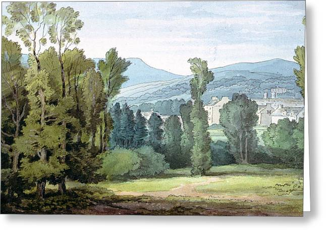 West Country Greeting Cards - Dulverton, Somerset, 1800 Wc On Paper Greeting Card by John White Abbott