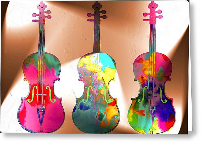 Violine Greeting Cards - Dum Dum Diddle to be your Fiddle to be so Near You and Not Just Hear You Greeting Card by Daniel Janda