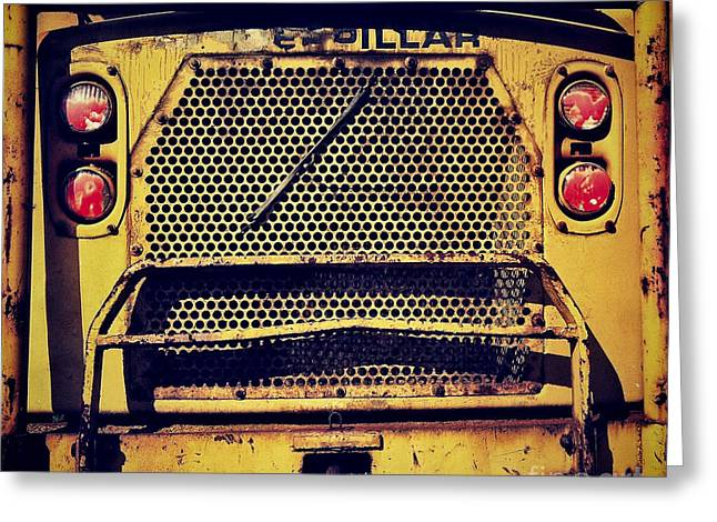 Dump Truck Greeting Cards - Dump Truck Grille Greeting Card by Amy Cicconi