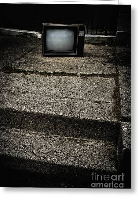 Old Tv Greeting Cards - Dumped Greeting Card by Margie Hurwich
