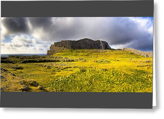 Dun Aonghasa - Iron Age Irish Ruins Greeting Card by Mark E Tisdale