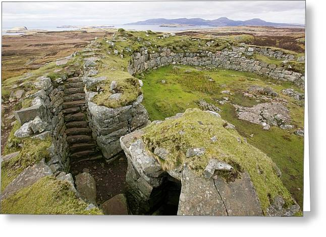 Dun Beag Broch On The Isle Of Skye Greeting Card by Ashley Cooper