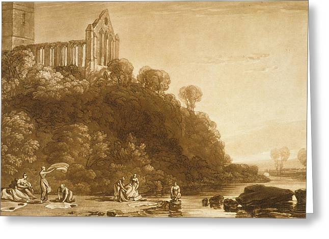 Dunblane Abbey Greeting Card by Joseph Mallord William Turner