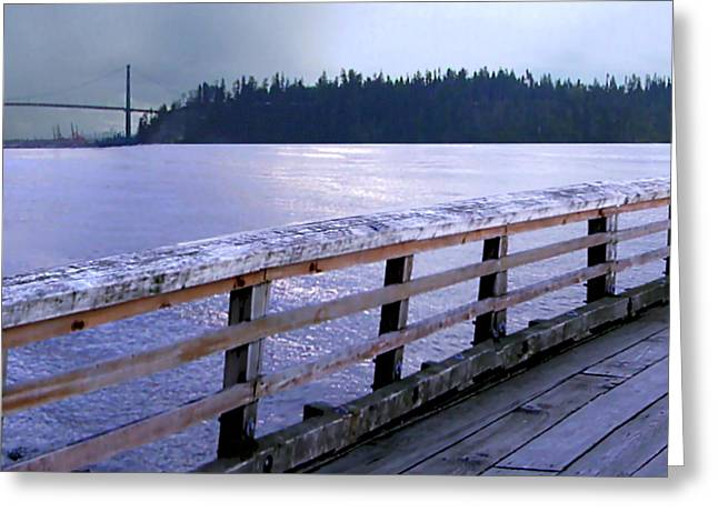 West Vancouver Dundarave Triptych Left Panel Greeting Card by Patricia Keith
