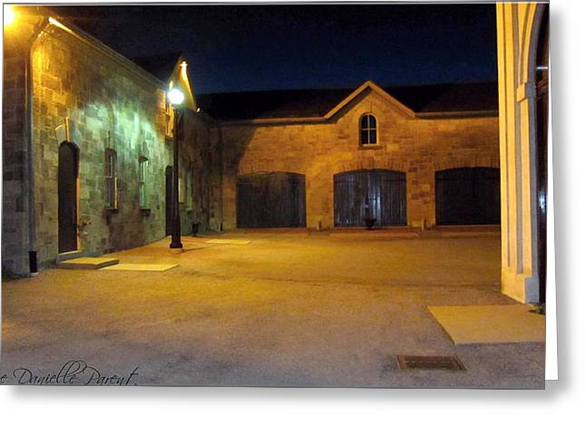 Dundurn Castle Greeting Cards - Dundurn Castle Coach House Courtyard Greeting Card by Danielle  Parent