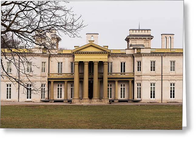 Dundurn Castle Greeting Cards - Dundurn Castle Under Winter Skies Greeting Card by Barbara McMahon