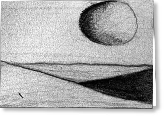 Moonrise Drawings Greeting Cards - Dune 1 Greeting Card by Juan Jimenez