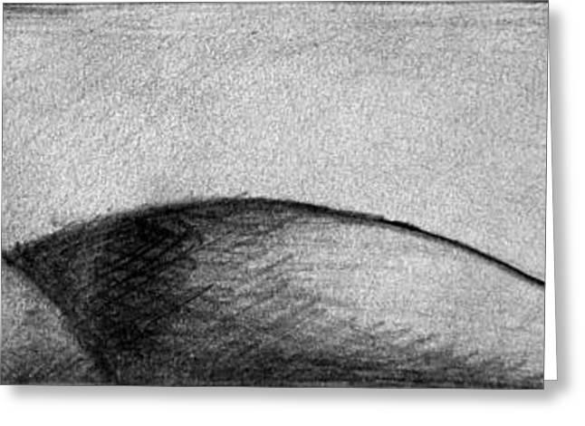 Moonrise Drawings Greeting Cards - Dune 4 Greeting Card by Juan Jimenez