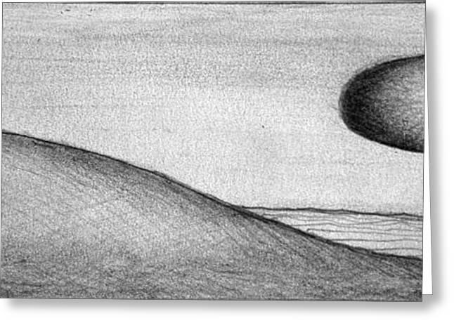 Moonrise Drawings Greeting Cards - Dune 5 Greeting Card by Juan Jimenez