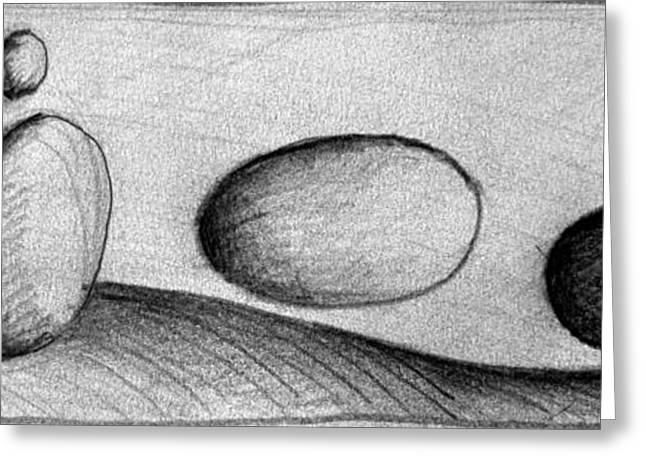 Moonrise Drawings Greeting Cards - Dune 6 Greeting Card by Juan Jimenez