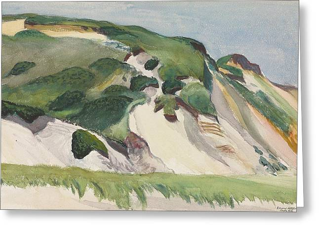 Coastal Dunes Greeting Cards - Dune at Truro Greeting Card by Edward Hopper