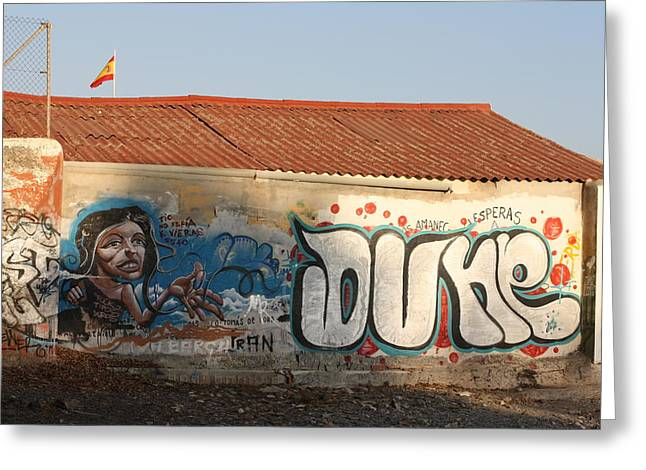 Grafity Greeting Cards - Dune boathouse Greeting Card by Jan Katuin