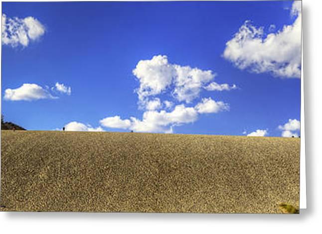 Dune Climb Panorama Greeting Card by Twenty Two North Photography