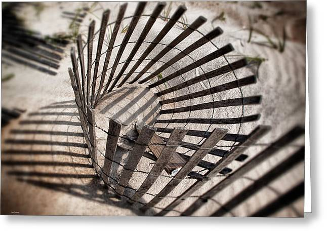 Sand Fences Greeting Cards - Storm Fence Series 1 Greeting Card by John Pagliuca