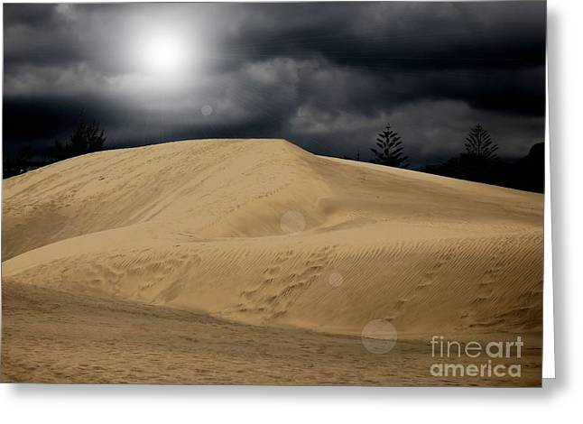 Dune Greeting Card by Flow Fitzgerald