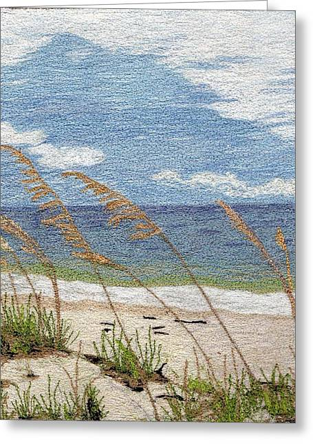 Sea Oats Mixed Media Greeting Cards - Dune Greeting Card by Jenny Williams