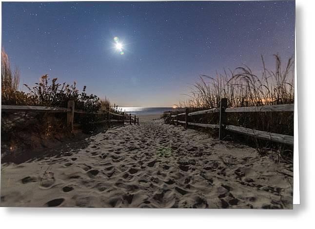 Dune Light Greeting Card by Kristopher Schoenleber
