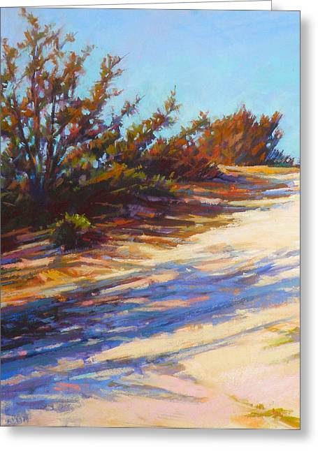 Sand Dunes Pastels Greeting Cards - Dune Path Greeting Card by Ed Chesnovitch