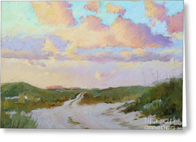 Beach Sunsets Pastels Greeting Cards - Dune Path Greeting Card by Lisa Gleim