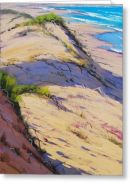Backlit Greeting Cards - Dune Scape Greeting Card by Graham Gercken