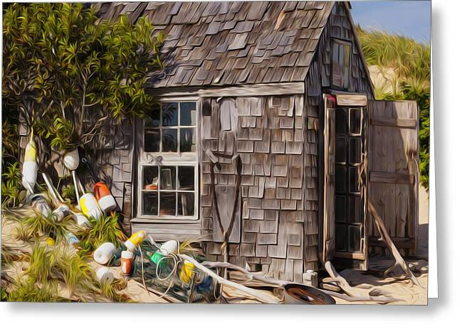 Shack Digital Greeting Cards - Dune Shack Greeting Card by Bill  Wakeley