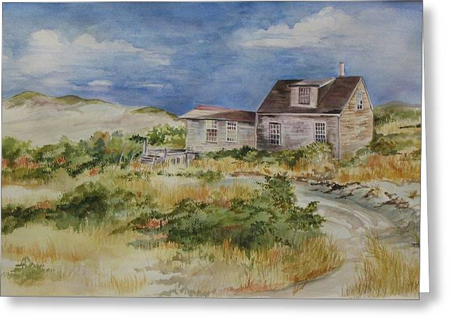 Shack Greeting Cards - Dune Shack Greeting Card by Jane Getty