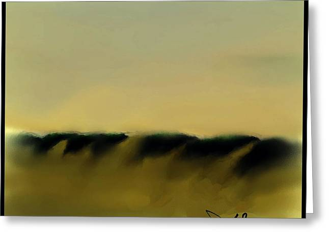 Ocean Landscape Greeting Cards - Dune Shadows  #A-A-5 Greeting Card by Diane Strain
